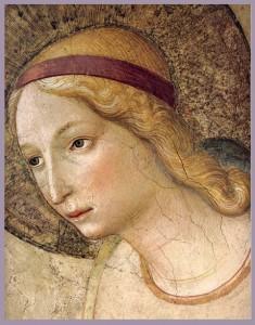 Fra Angelico, Annunciatie (detail, Maria)
